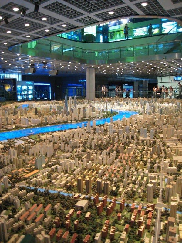 Shanghai model بزرگترین مدل ساخته شده شهری