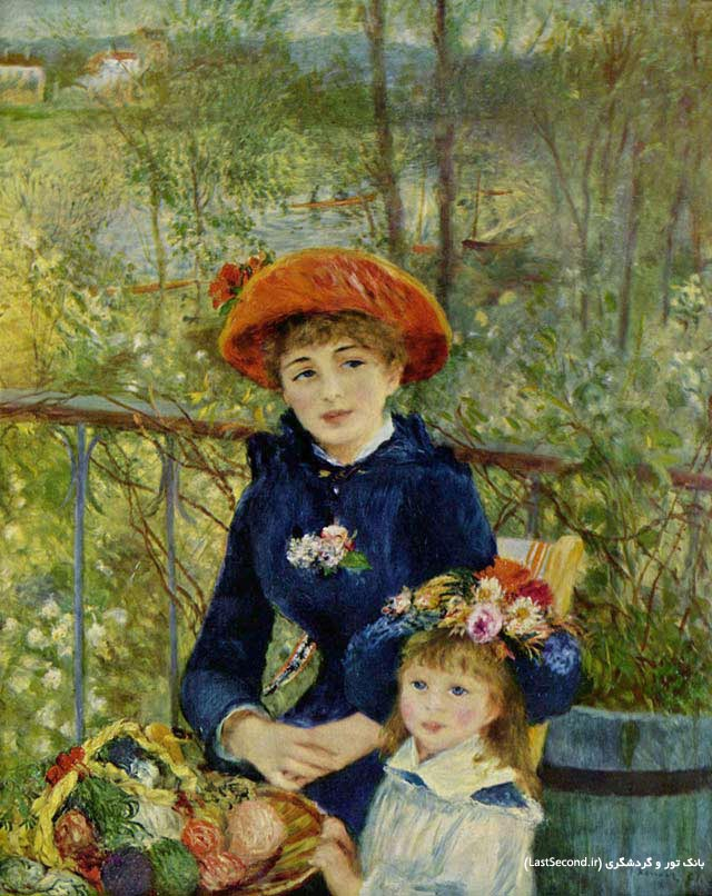 Pierre Auguste Renoir  دو خواهر  روی تراس پیر آگوست رنوآر
