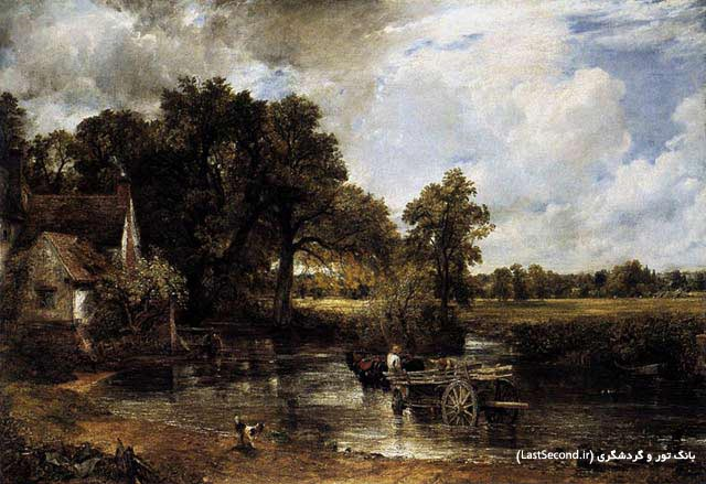 John Constable The Hay Wain گالری علوفه جان کنستابل