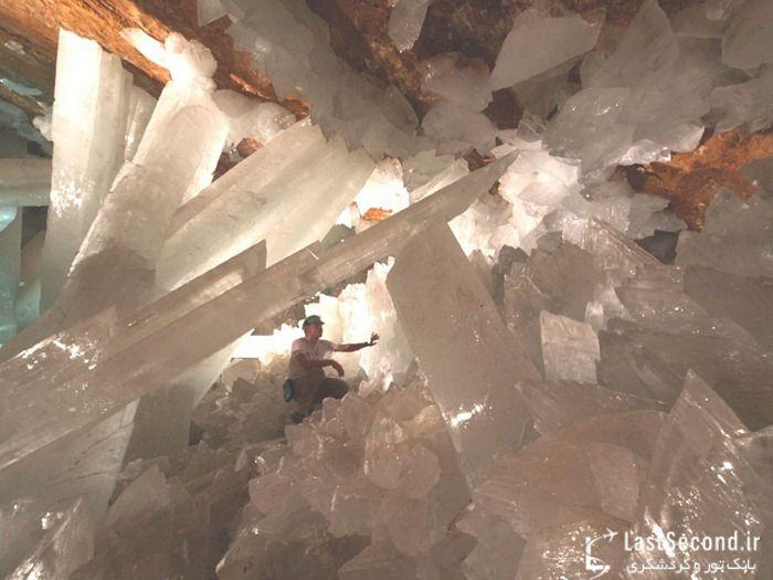 غار عظیم کریستال در کویر مکزیک