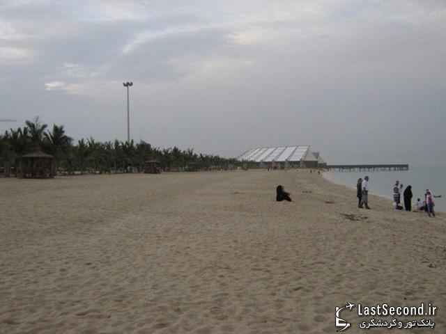کیش - ساحل سمت غربی اسکله تفریحی